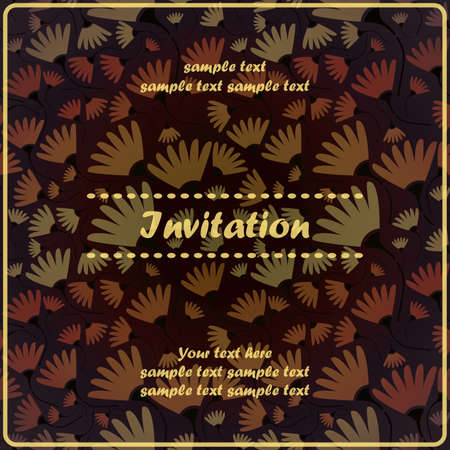Floral invitation Stock Vector - 17203497