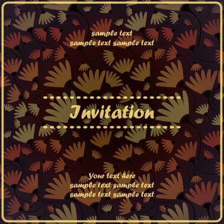 Floral invitation Stock Vector - 17203497