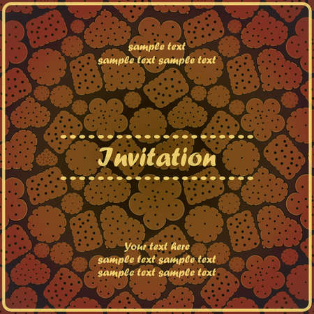 invitation with cookies Vector