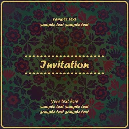 Invitation floral card Stock Vector - 17203503