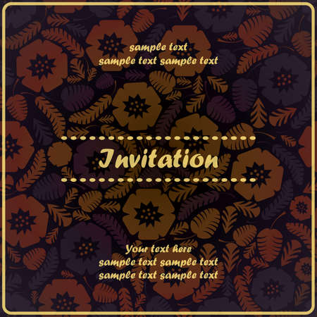 Invitation floral card Stock Vector - 17203498