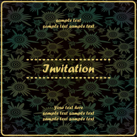 Invitation floral card Stock Vector - 17203504