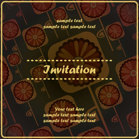 Invitation floral card Stock Vector - 17203502