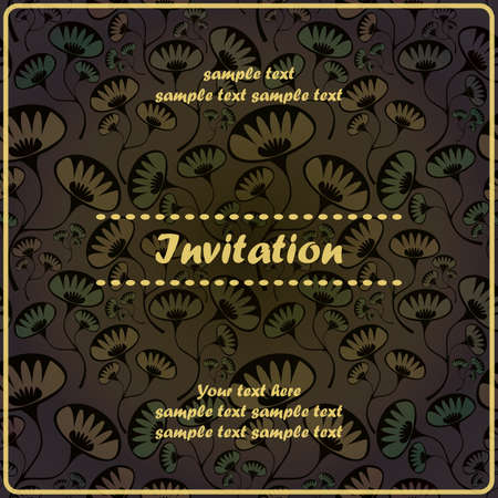 Invitation floral card Stock Vector - 17203499