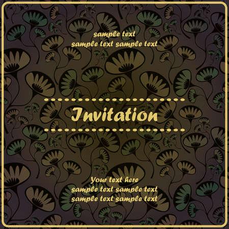 Invitation floral card Stock Vector - 17203499