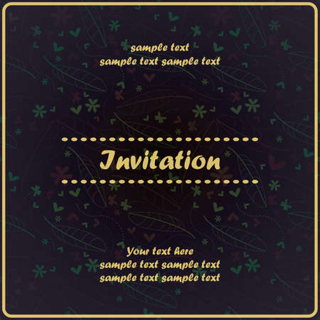 Invitation floral card Stock Vector - 17203533