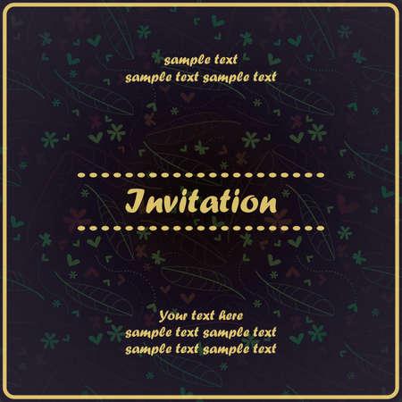 Invitation floral card Stock Vector - 17203533