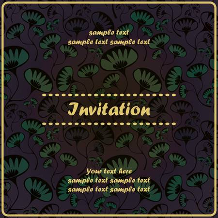 Invitation floral card Stock Vector - 17203500