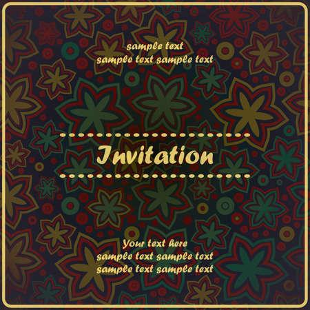 Invitation floral card Stock Vector - 17203501