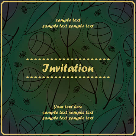 Invitation floral card Stock Vector - 17203496