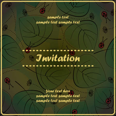 Invitation floral card Stock Vector - 17203495