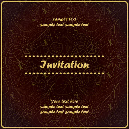 Invitation floral card Stock Vector - 17203542