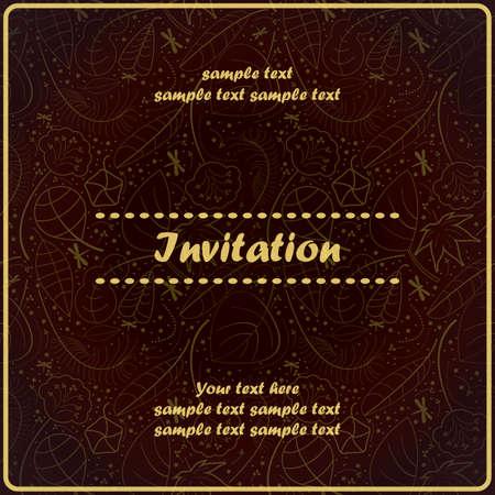 Invitation floral card Stock Vector - 17203542