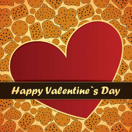 Valentine`s day card Stock Vector - 17429786