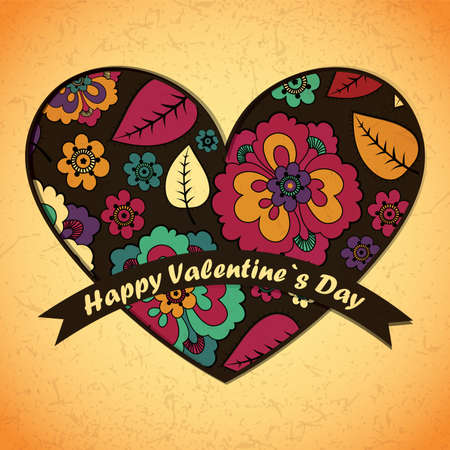 Valentine`s day card Stock Vector - 17429646