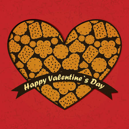 Valentine`s day card Stock Vector - 17429775