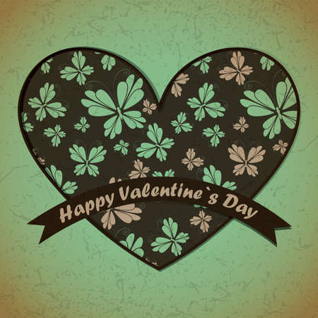 Valentine`s day card Stock Vector - 17429655