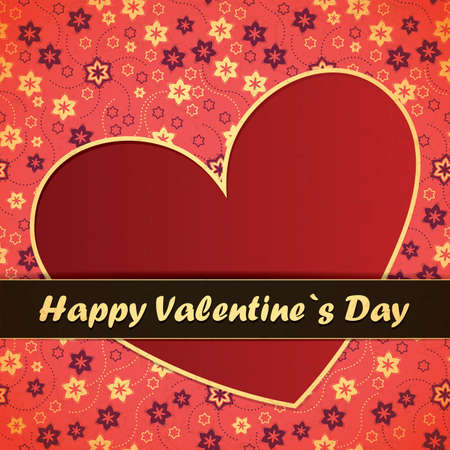Valentine`s day card Stock Vector - 17429676