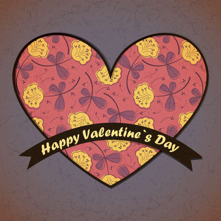 Valentine`s day card Stock Vector - 17429635