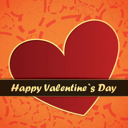 Valentine`s day card Stock Vector - 17429468