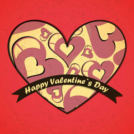 Valentine`s day card Stock Vector - 17429462