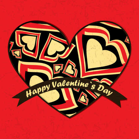 Valentine`s day card Stock Vector - 17429465
