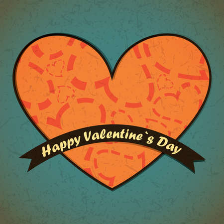 Valentine`s day card Stock Vector - 17429472