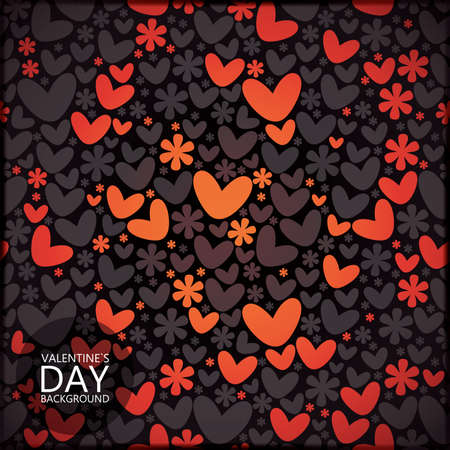 Valentine`s day card Stock Vector - 17481731
