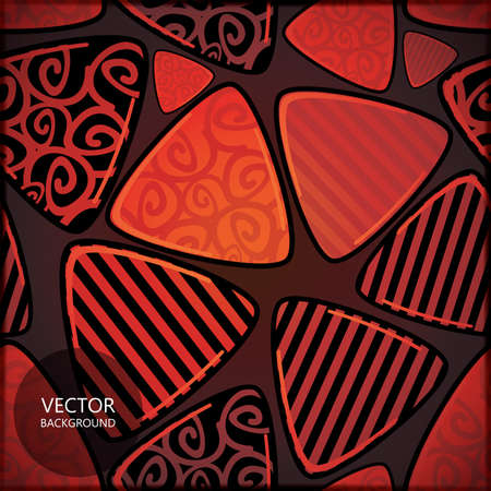 Card with decorative elements Stock Vector - 17481792
