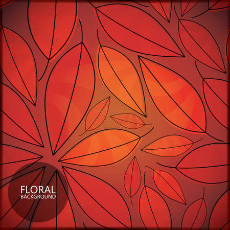 classy background: Floral card