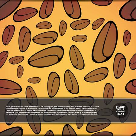 Card with coffee beans Stock Vector - 17577637