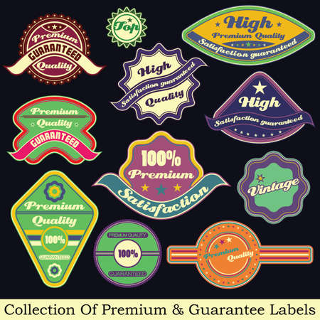 Premium quality and guarantee label collection Stock Vector - 17857345