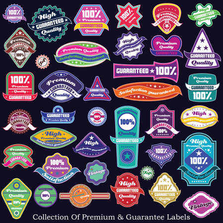 Premium quality and guarantee label collection Stock Vector - 17857373