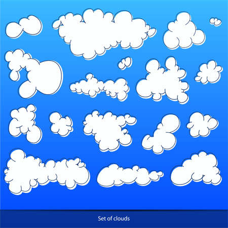 Set of clouds,  illustration Stock Vector - 18654309
