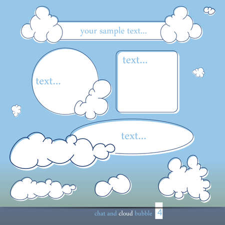 Cloud and chat bubbles, vector illustration Vector