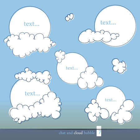 Cloud and chat bubbles,  illustration Vector