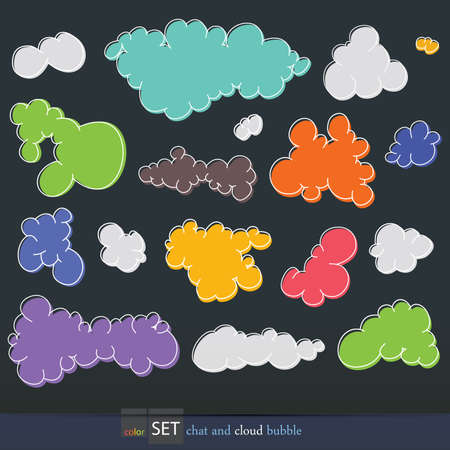 Set of clouds,  illustration Vector