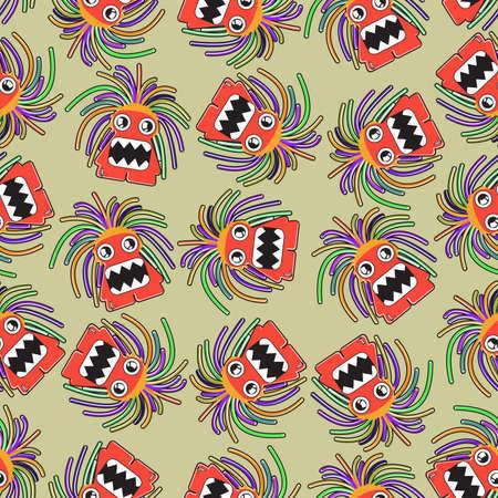 Monster seamless Stock Vector - 18654348