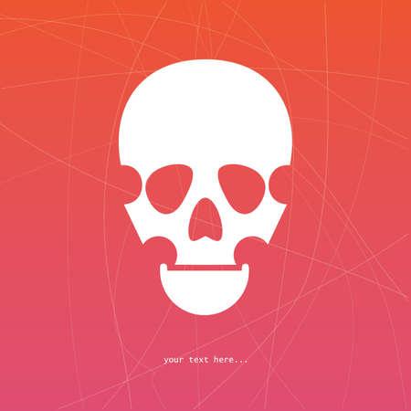 White skull Vector