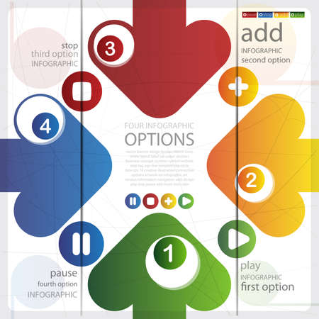 Four Infographics options banner
