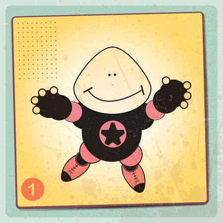 Fun cartoon character Stock Vector - 19395151