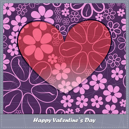 tolerable: Valentine`s day card with flowers