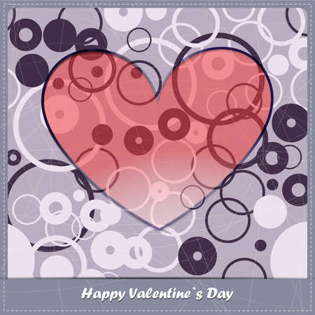 Valentine`s day card with decorative elements Vector