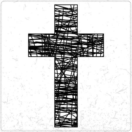 cross tattoo symbol: Black cross
