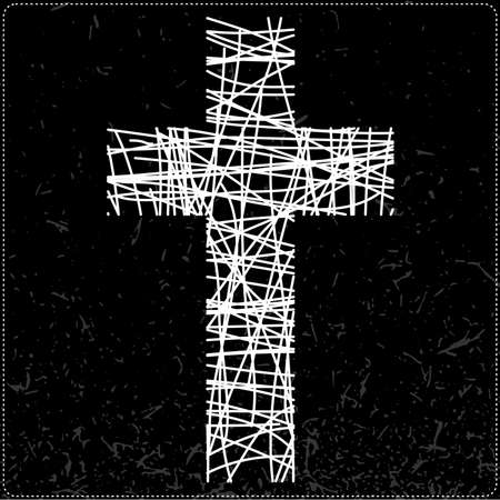 jesus cross: White cross