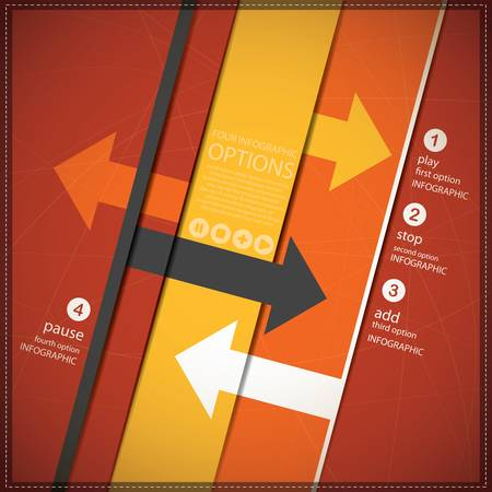 Four Infographics options banner Vector
