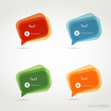 Four colorful chat bubbles Vector
