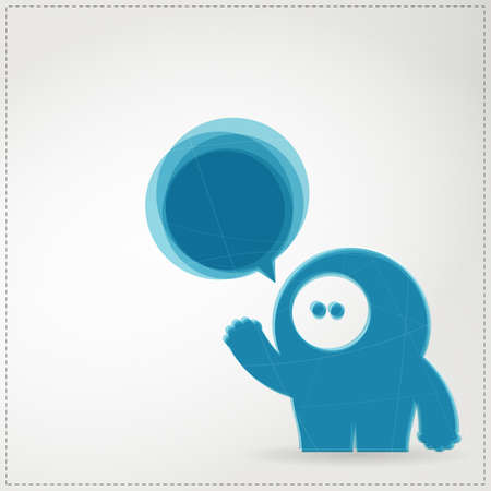 Monster with chat bubble Stock Vector - 19648572