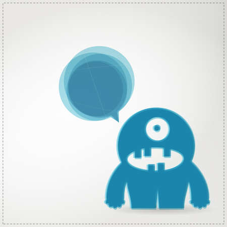 Monster with chat bubble Stock Vector - 19649063