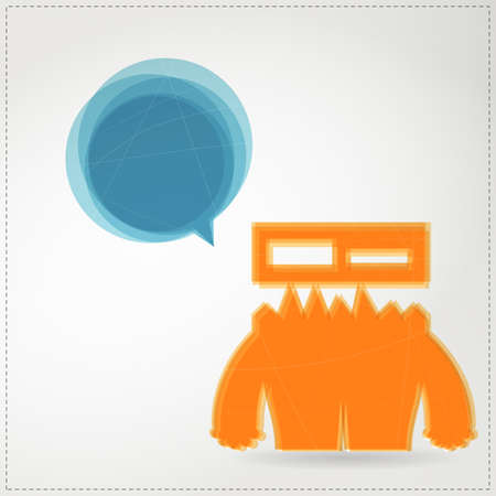 Monster with chat bubble Stock Vector - 19649066